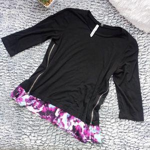Womens Petite 3/4 Sleeve Blouse Size SP